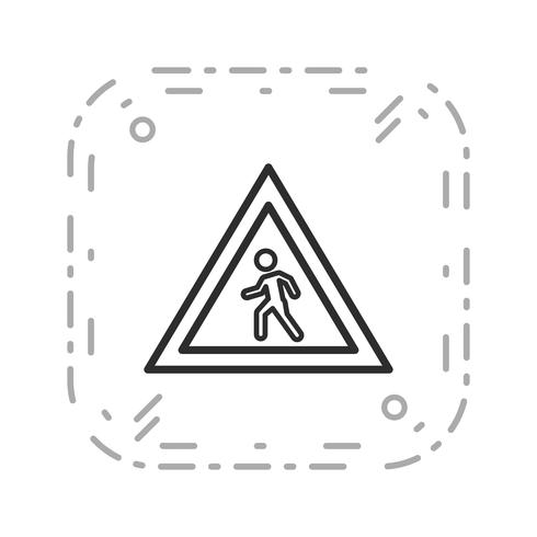 Vector zebrapad pictogram