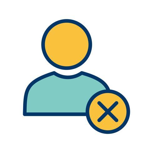 Ta bort användarvektorns ikon