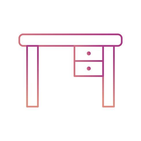 Ícone de vetor de mesa de estudo
