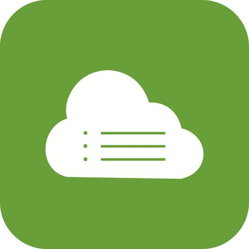 Wolke Daten Vektor Icon