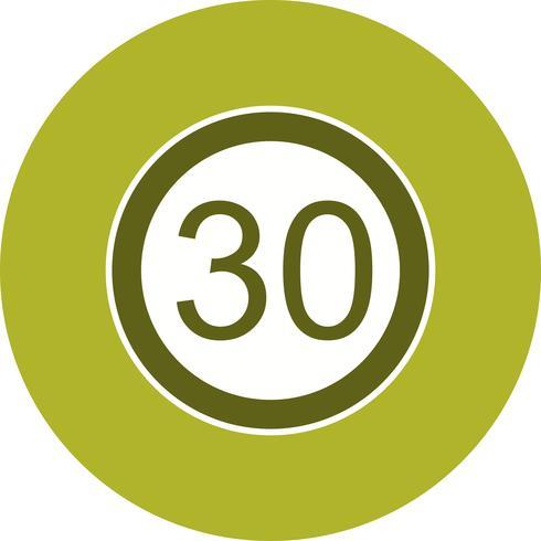 Vector icono de límite de velocidad 30