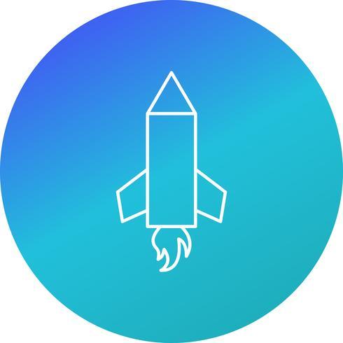 Bleistift-Rakete-Vektor-Symbol