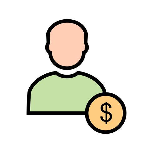 Dollar Mit Mann Vektor Icon