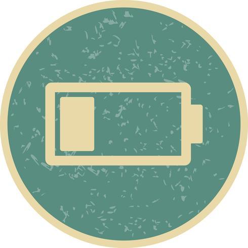 Icona di vettore della batteria scarica