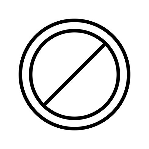 Vector No entry Icon