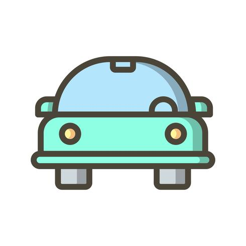 Cartoon Auto Vektor Icon