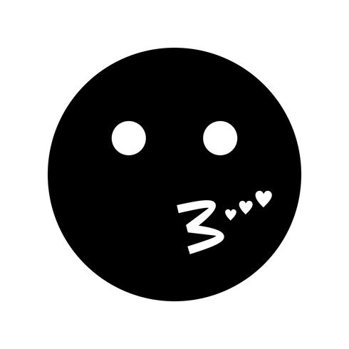 Kiss Emoji Vector Icon