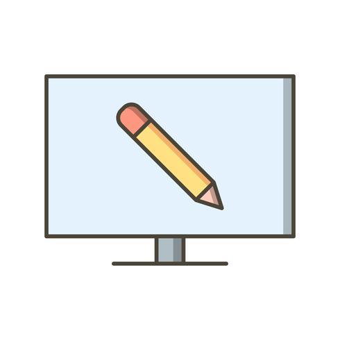 Ícone de vetor de educação on-line