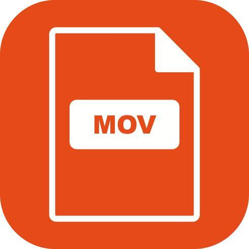 Icône de vecteur MOV