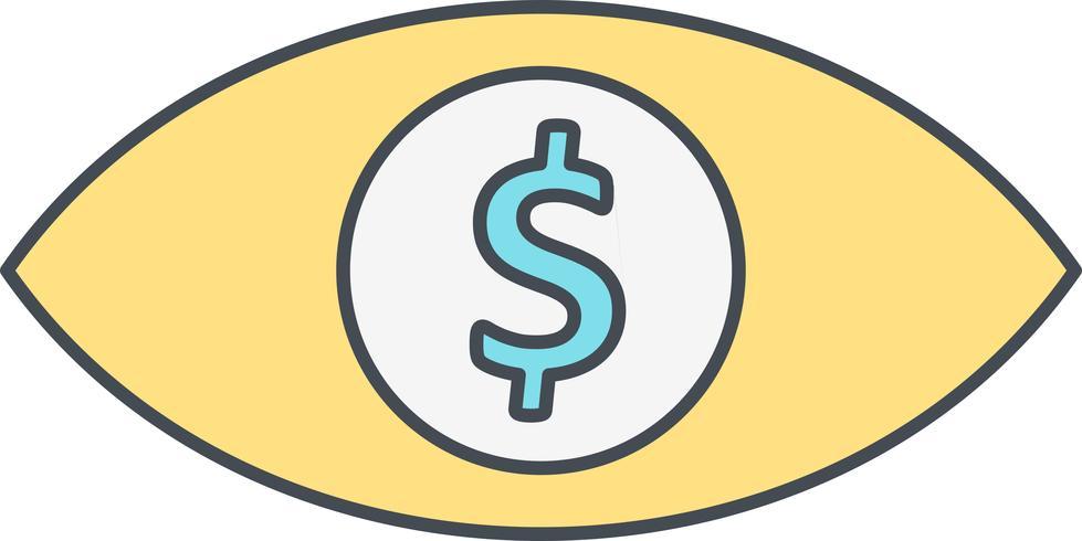 Oeil Dollar Vector Icône