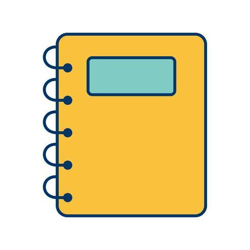 icône de vecteur de bloc-notes