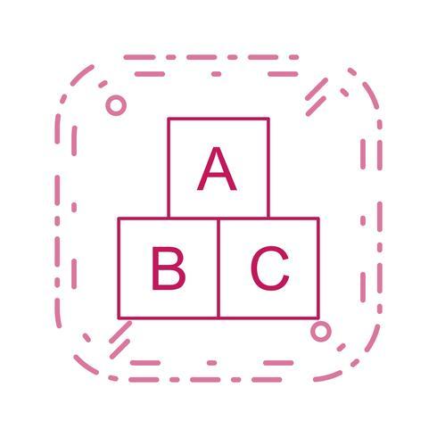 icône de vecteur cubes abc