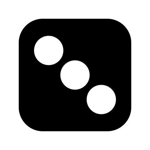 Dadi icona tre vettoriale