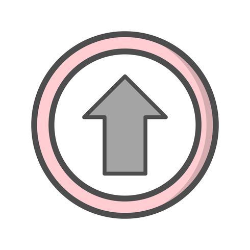 Vector Ga rechtdoor Icon