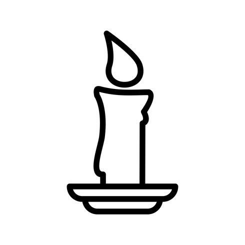 Kerze-Vektor-Symbol