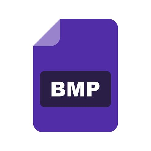 Icône de vecteur bmp