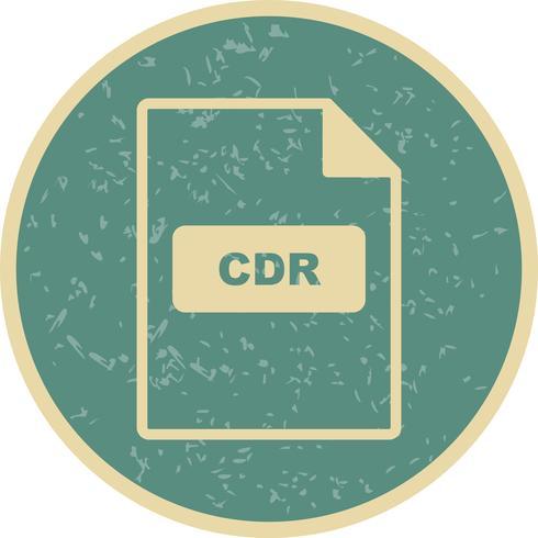 Ícone de vetor de CDR