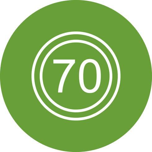 Vector Speed limit 70 Icon