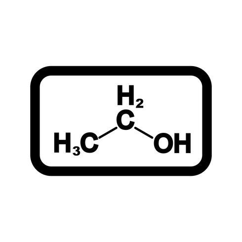 Icono de Vector de etanol