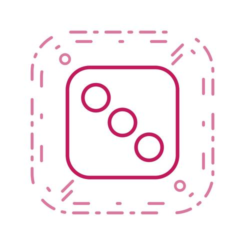 Dice Three Vector Icon