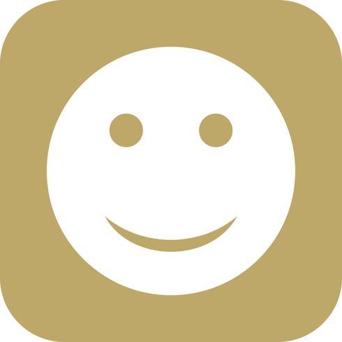 Glückliche Emoji-Vektor-Ikone