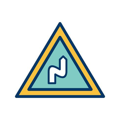 Vector Dobra dupla para o ícone certo