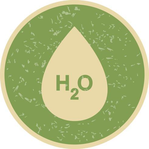 Icône de vecteur H2O
