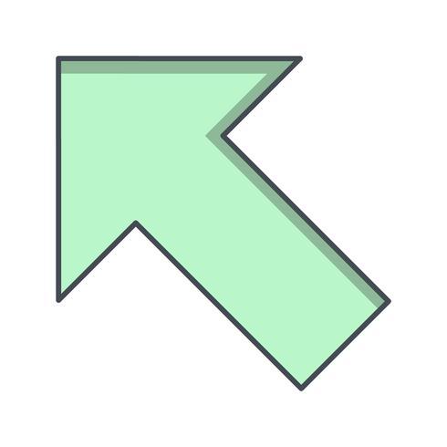 Esquerda para cima ícone Vector