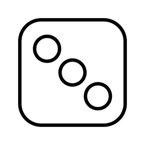 Dés trois vecteur icône