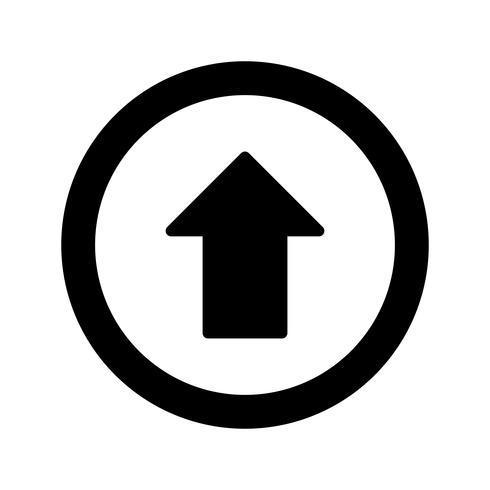 Vector Ir hacia adelante icono