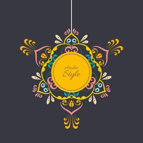 Vettore d'annata del telaio dell'ornamento fiorito