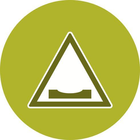 Vector Road dips pictogram