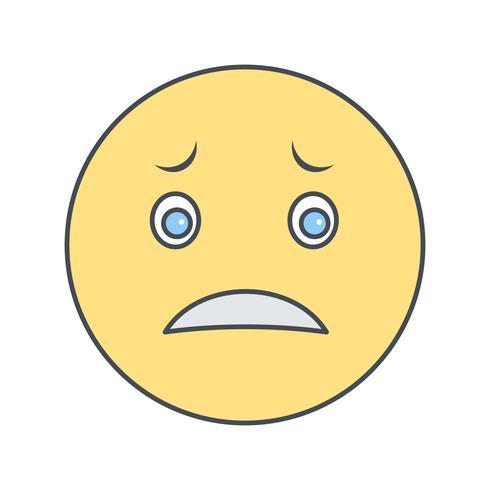 Icona di vettore Emoji nervoso