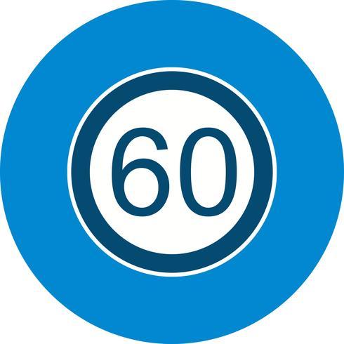 Vector Snelheidslimiet 60 pictogram