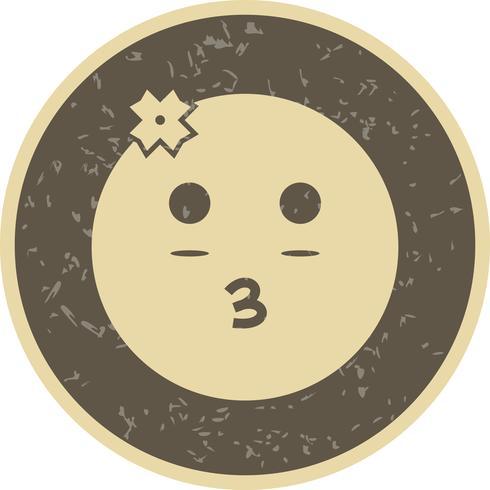 Menina, emoji, vetorial, ícone
