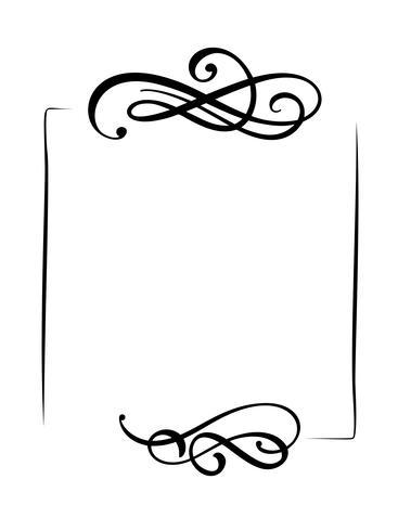 Dibujado a mano decorativos vector vintage marco y fronteras banner. Diseño de ilustración para libro, tarjeta de felicitación, boda, impresión.