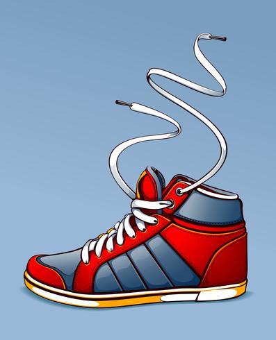 Sneaker vectorillustratie