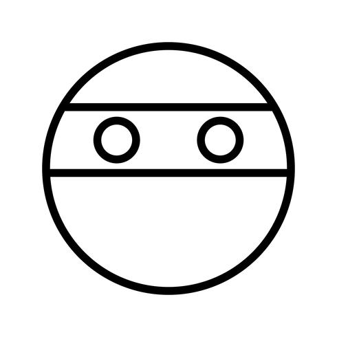 Ninja Emoji-Vektor-Symbol