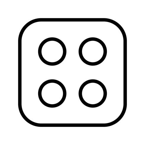 Dice Four Vector Icon