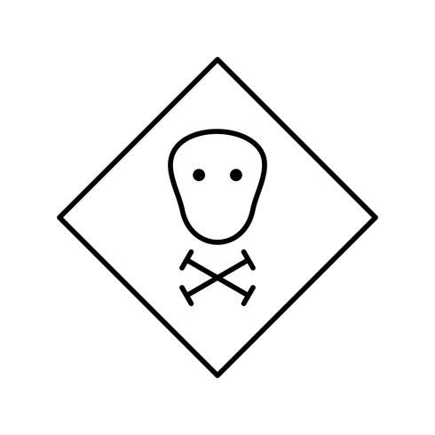 Icona di vettore tossico