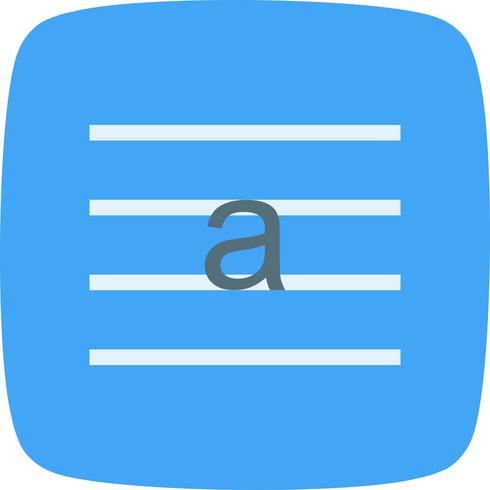 Lowercase Vector Icon