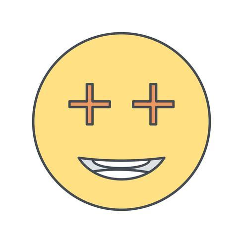 Positiv Emoji Vector Icon