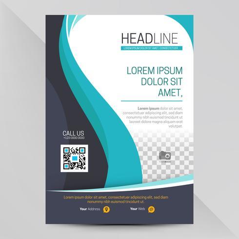 Abstracte blauwe sjabloon folder