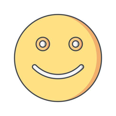 Glad Emoticon Vector Icon