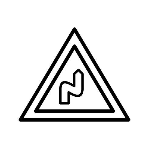 Vector Doppia piegatura a destra Icona
