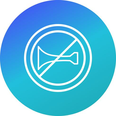 Vektor Akustische Warngeräte verboten Symbol