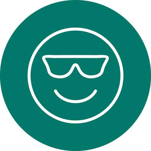 Cool Emoji Vector Icon