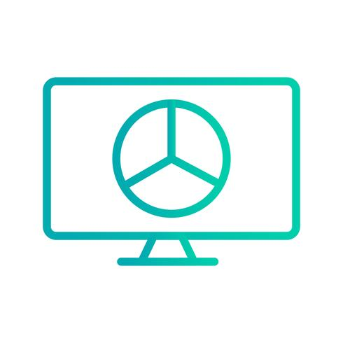 Graphique en ligne Vector Icon