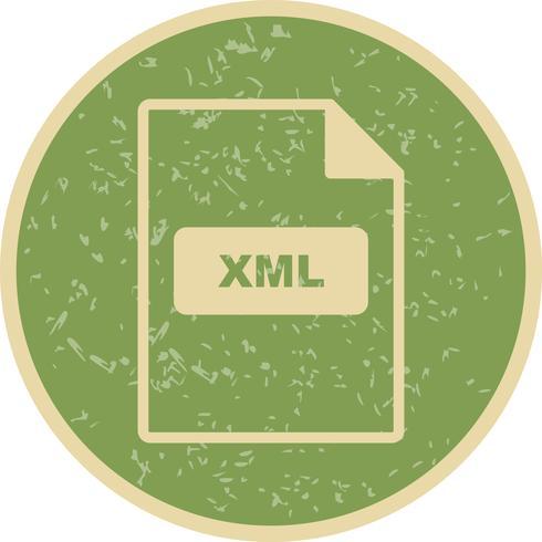 Icona di vettore XML