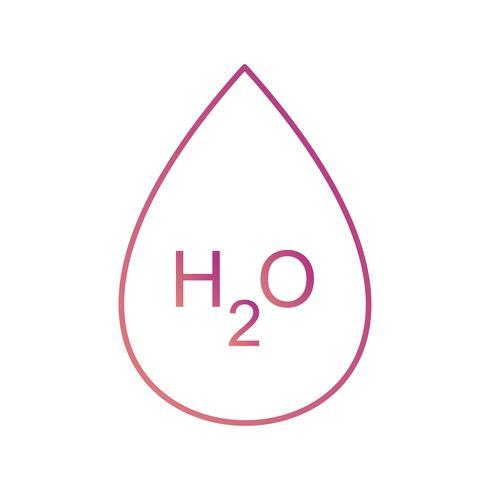 H2O Vector-pictogram
